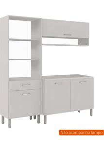 Cozinha Compacta Uccelli 4 Pt 1 Gv Off White