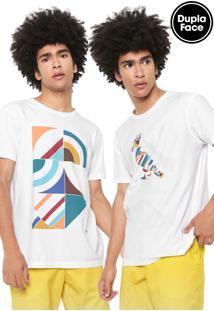 Camiseta Reserva Azulejo Giga Dupla Face Branca