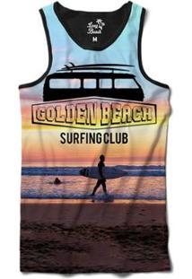 Camiseta Regata Long Beach Kombi Golden Beach Sublimada Masculina - Masculino-Roxo