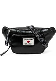 Love Moschino Pochete Com Patch De Logo - Preto