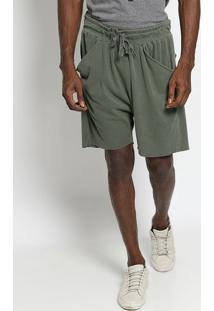 Bermuda Em Sarja E-Fabrics - Verdeosklen
