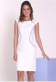 896431d626 ... Vestido Off White De Alfaiataria Rabusch