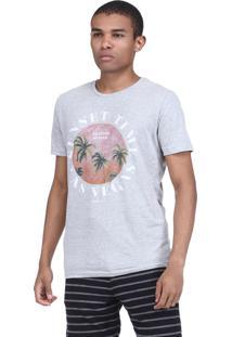 Camiseta King&Joe Estampada Cinza