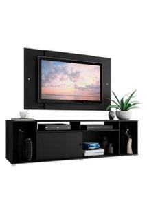 Rack Madesa Cancun E Painel Para Tv Até 58 Polegadas Preto