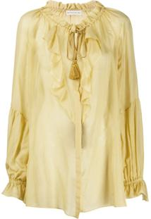 Etro Oversized Ruffled Blouse - Amarelo