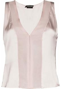 Tom Ford Sheer Panel Tank Top - Neutro