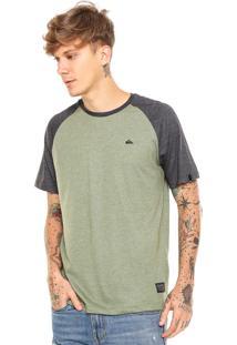Camiseta Quiksilver Raglan Esse Verde