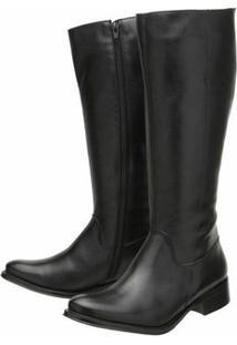 Bota Encinas Leather Montaria Tradicional - Feminino-Preto