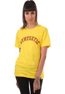Camiseta College Font Synthetic Inc. Amarela - Sync - Amarela