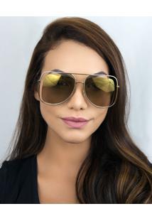 Óculos De Sol Feminino Chloé Ce130S 743 57 Dourado