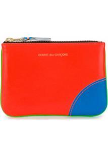 Comme Des Garçons Wallet Carteira Color Block Com Logo - Verde