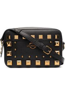 Love Moschino Studded Camera Bag - Preto