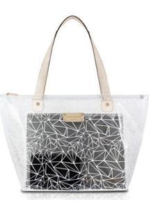 Bolsa Shopper Jacki Design Pvc - Feminino-Branco