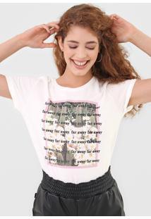 Camiseta Dzarm Lettering Off-White - Kanui