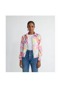 Jaqueta Em Poliamida Com Estampa De Letras | Blue Steel | Branco | P