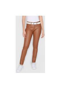 Calça Calvin Klein Jeans Skinny Resinada Marrom