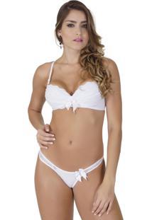 Conjunto Click Chique Sexy Básico Branco