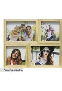 Painel Para 4 Fotos- Bege- 24X29X6Cm- Kaposkapos
