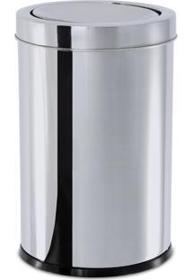 Lixeira Inox Com Tampa Basculante 21,2 Litros