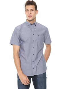 Camisa Tommy Hilfiger Reta Básica Cinza