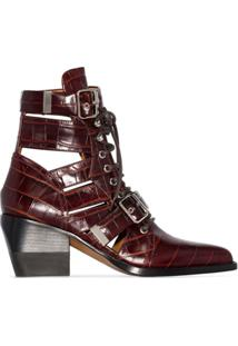 Chloé Ankle Boot Rylee 60 - Marrom