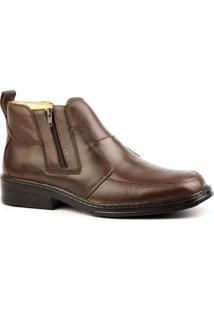 Bota Couro Doctor Shoes 916 Floater Masculina - Masculino-Marrom
