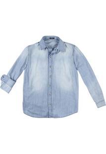 Camisa Jeans Masculina Hering Na Modelagem Confort