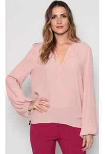 Blusa Com Recorte Vazado - Rosa Clarodudalina