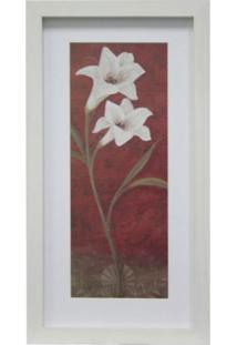 Quadro Floral Iii Kapos Branco 34X19Cm