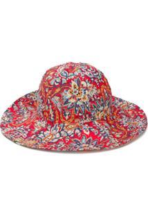 Etro Chapéu De Algodão Com Estampa Floral - Vermelho