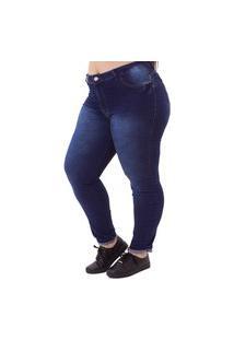 Calça Jeans Básica Plus Size Feminina Jimy