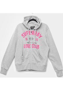 Blusa Moletom City Lady Plus Size Superday Feminina - Feminino-Cinza