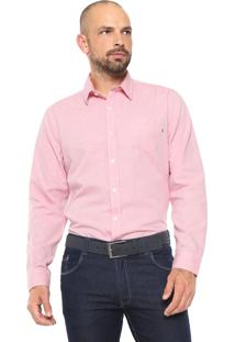 Camisa Timberland Reta Oxford Rosa