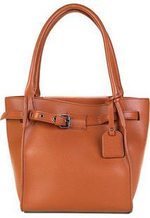 Bolsa Shoestock Handbag Belt Feminina - Feminino-Caramelo