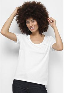 Camiseta Lacoste Básica Feminina - Feminino-Branco