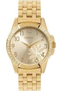 Relógio Condor Feminino - Feminino-Dourado