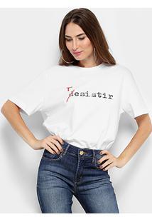 Camiseta Forum Resistir Feminina - Feminino-Branco