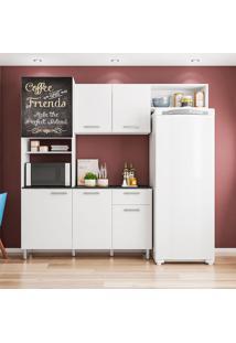Cozinha Compacta Com 6 Portas Giulia - Poliman - Branco