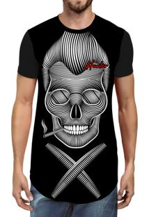 Camiseta Hunter Longline Hair Preta
