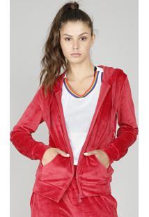 9ab9cbc94 R$ 79,99. CEA Blusão Feminino Esportivo Ace Em Plush Com Capuz Vermelho