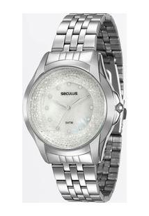 Relógio Feminino Strass Seculus 20429L0Svna2