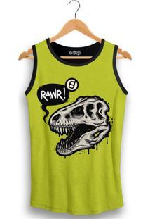 Dep Store. Regata Dep Caveira Dinossauro Verde Limão 622354bfa3