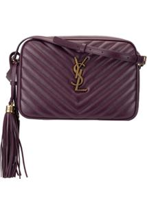 Saint Laurent Bolsa Transversal Lou Camera - Roxo