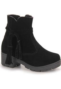 Ankle Boots Infantil Larinha - 28 Ao 36 - Preto