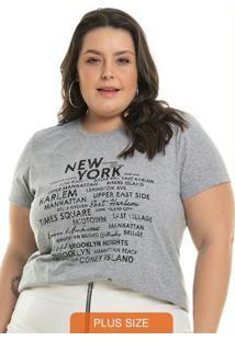 T-Shirt Letter Cinza