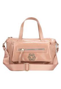 Bolsa Handbag Ana Hickmann Feminina Verniz Dia A Dia Moderna Rosa