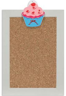 Quadro De Aviso Cortiça Cupcake Iv 25X35Cm Colorido Kapos