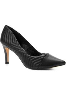 Scarpin Couro Shoestock Salto Alto Matelassê - Feminino