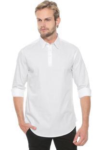 Camisa Calvin Klein Reta Geneva Branca