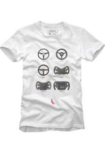 Camiseta Reserva Evolução Masculina - Masculino-Branco